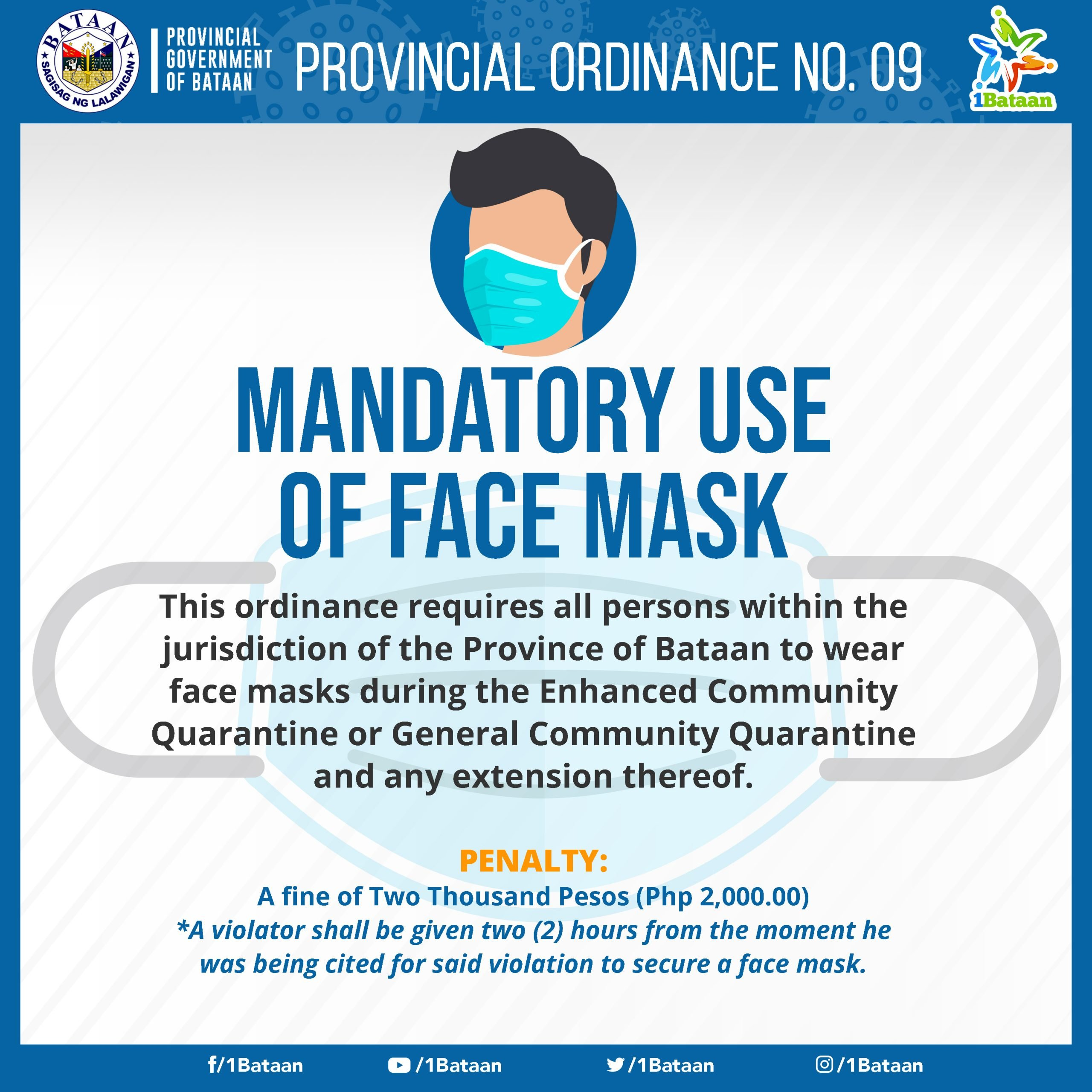 FACE MASK ORDINANCE NO 09 -