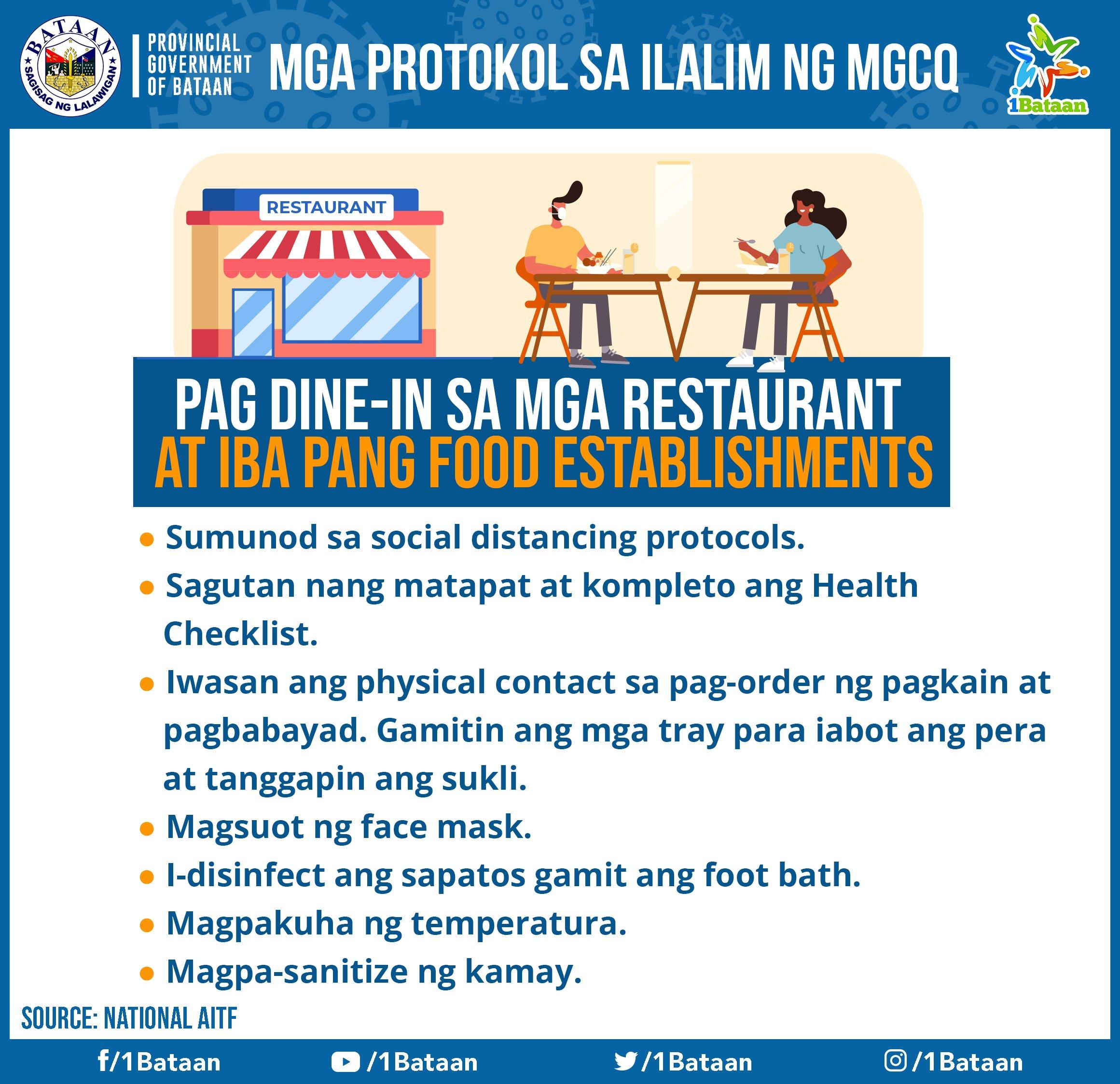 Mga protokol sa ilalim ng MGCQ -